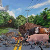 All Together Now 52x84 oil on canvas