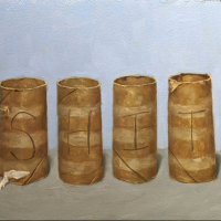 Four-Pack.-9x1222.-Oil-on-panel.