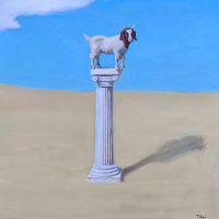 The disappointing goat. 18x18