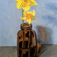 Daffodils. 14x11. Oil on canvas