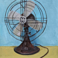 Fan.-20x16.-Oil-on-canvas-mounted-on-panel.
