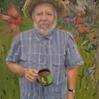 Having the Right Mug. 16x12. Oil on linen.