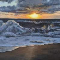 Sunrise at Nauset. 16x20. Oil on canvas