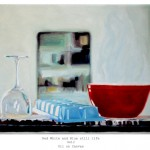 Red White and Blue still life lg 9x12