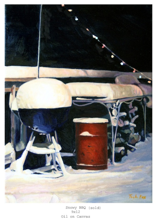 Snowy BBQ lg 9x12